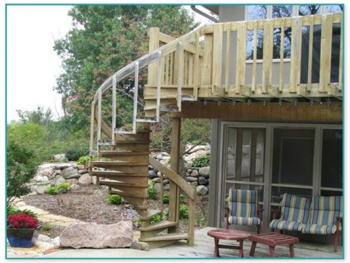 Spiral Staircase For Deck