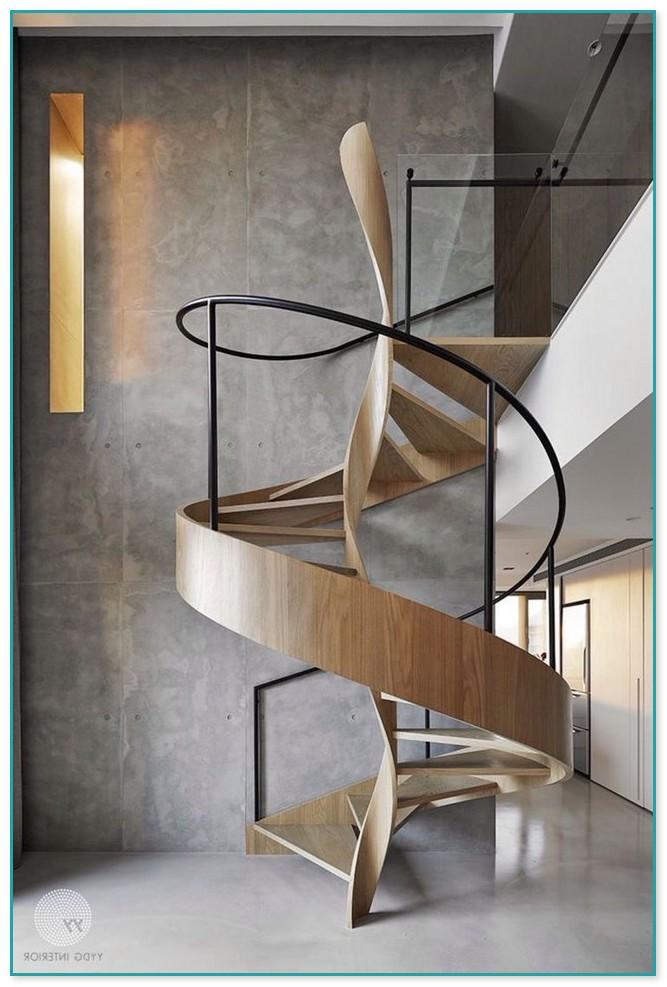 Spiral Staircase Landing Design