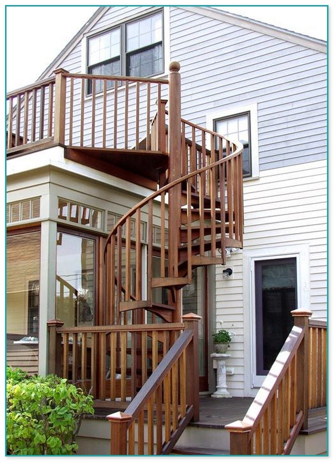 Spiral Staircase On Deck