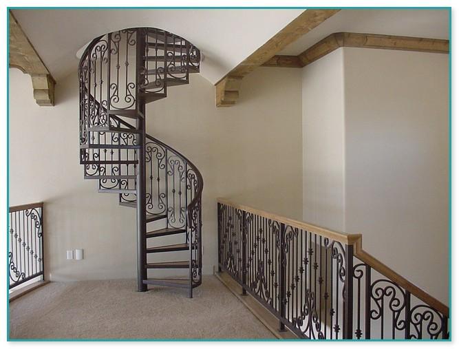 Spiral Staircase Railing Designs