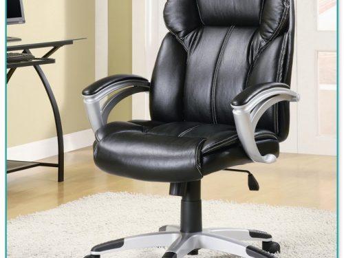 Staples Santoro Bonded Leather High Back Task Chair Black