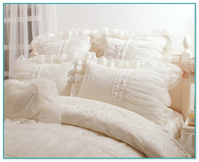 White Ruffle Comforter Set