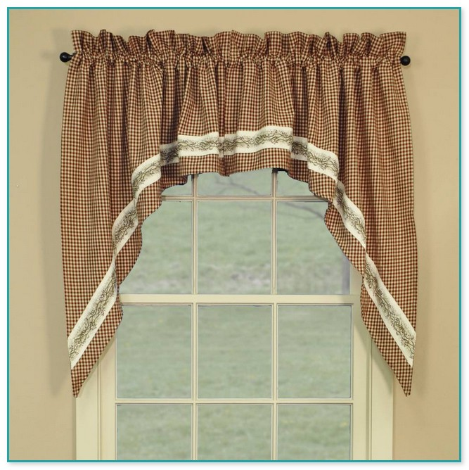 Country Swag Curtains For Kitchen