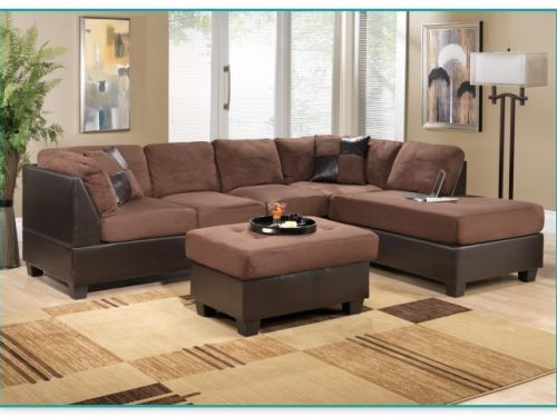 Cozy Big Lots Brown Sleeper Sofa L Shape