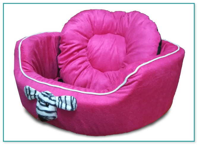 Elegant Pink Medium Size Dog Bed