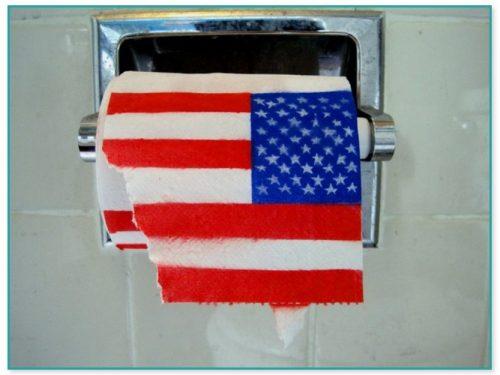 Family Guy American Flag Toilet Paper