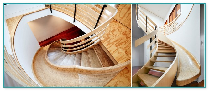 Wooden Spiral Staircase And Slide