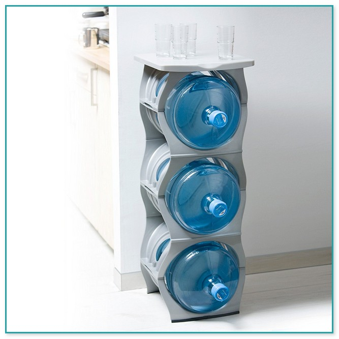 5 Gallon Water Bottle Storage Rack 16 Bottle Capacity