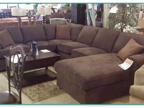 Brown Raymour And Flanigan Grey Sectional Sofa
