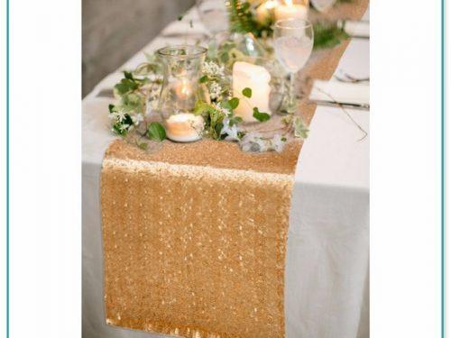 Glitter Table Runner Wedding