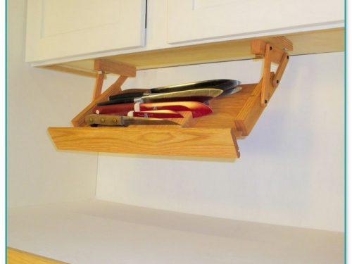 Under Cabinet Knife Storage Rack