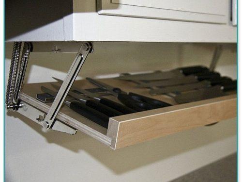 Under The Cabinet Knife Storage
