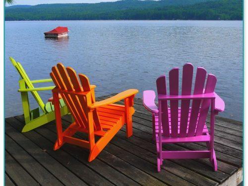 Faux Wood Adirondack Chairs