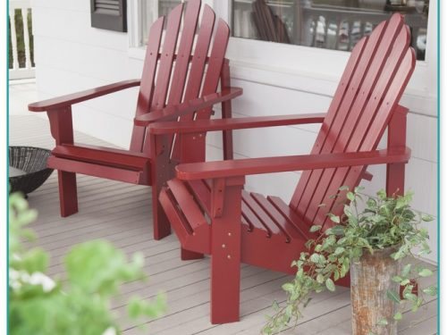 Red Adirondack Chairs Wood