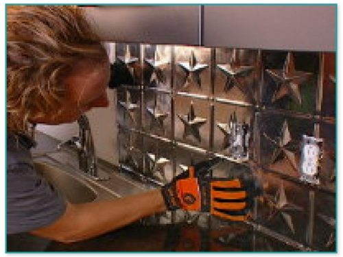 Tin Ceiling Tiles As Backsplash