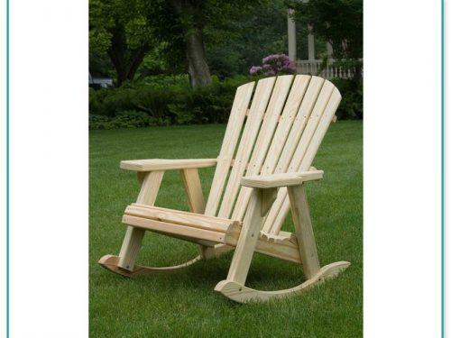 White Adirondack Rocking Chairs